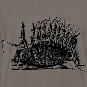 Galloping into battle - Men's Premium Long Sleeve T-Shirt