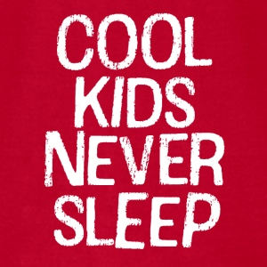 Cool Kids Never Sleep funny baby boy shirt  - Men's T-Shirt by American Apparel