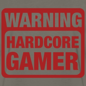 Warning Hardcore Gamer T-Shirts - Men's Premium Long Sleeve T-Shirt