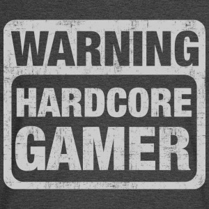 Warning Hardcore Gamer T-Shirts - Men's Long Sleeve T-Shirt