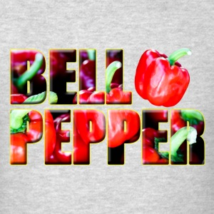 Text Image Bell Pepper Right gray jacket - Men's T-Shirt
