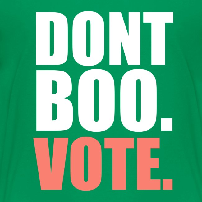 Obama Dont Boo Vote pink and green Fitted Tee W