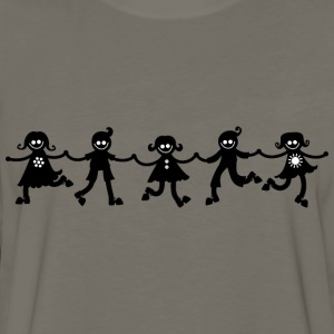 Children Line Dancing Silhouette - Men's Premium Long Sleeve T-Shirt