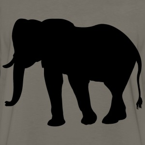 Elephant Silhouette Smoothed - Men's Premium Long Sleeve T-Shirt