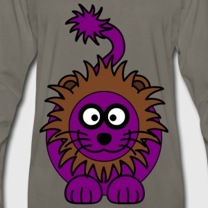 Purple Lion - Men's Premium Long Sleeve T-Shirt