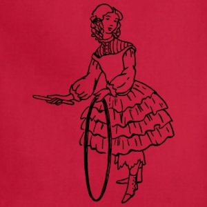 Girl with stick and hoop - Adjustable Apron