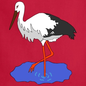 Kress s stork in a pond vectorized - Adjustable Apron