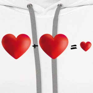 Three Love Romance Hearts Family Pregnancy T-Shirt - Contrast Hoodie