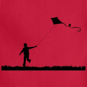 Boy Flying Kite Silhouette - Adjustable Apron