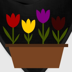 Tulips in a pot, just random! - Bandana