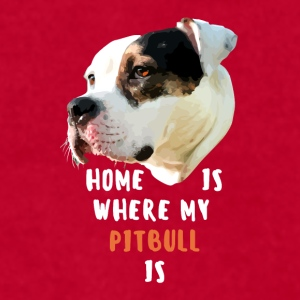 Home is where my Pitbull is Dogs Ver .2 T-shirt Mugs & Drinkware - Men's T-Shirt by American Apparel