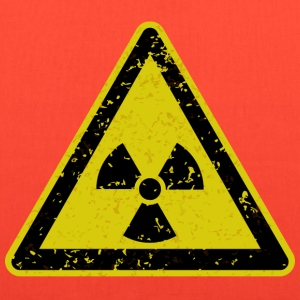 Grungy radiation warning sign - Tote Bag