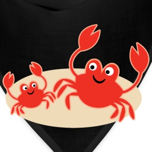 Crab Beach Seashore Cute T-Shirts - Bandana