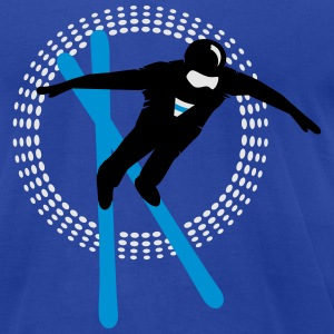 Freestyle skiing  Hoodies - Men's T-Shirt by American Apparel