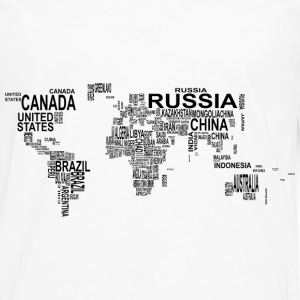 World Map T-Shirts - Men's Premium Long Sleeve T-Shirt