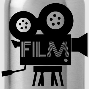 Old Fashioned Film Camera Icon - Water Bottle