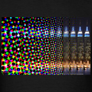 Pixelated Fade Empire State Building 365 Tanks - Men's T-Shirt