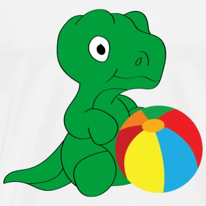Dino and ball Baby Bodysuits - Men's Premium T-Shirt
