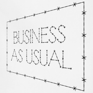 Business As Usual Sign Perspective - Adjustable Apron