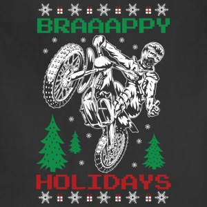 Motorcross Christmas T-Shirts - Adjustable Apron
