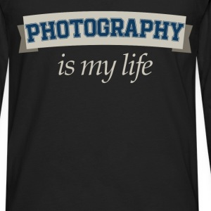 Photography is my life - Men's Premium Long Sleeve T-Shirt