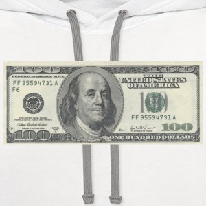 One Hundred Dollar Bill ($100) - Contrast Hoodie