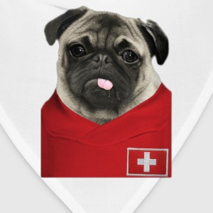 Switzerland Football Pug - Bandana