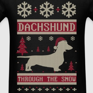 Dachshund Through Snow Long Sleeve Shirts - Men's T-Shirt