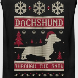 Dachshund Through Snow Long Sleeve Shirts - Men's Premium Tank