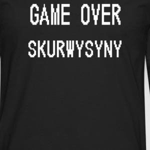 Game Over Skurwysyny - Men's Premium Long Sleeve T-Shirt