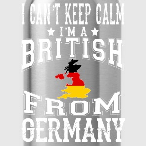 British from Germany - I can't keep calm - Water Bottle