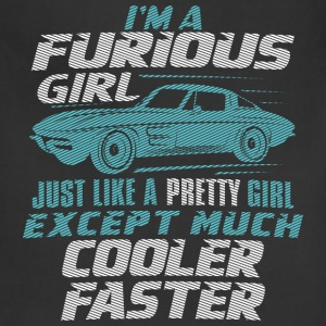 Car - I'm a furious girl, pretty and cooler faster - Adjustable Apron