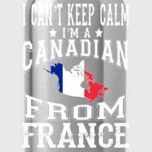Canadian from France - I can't keep calm - Water Bottle