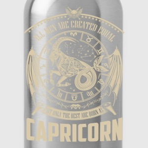 Capricorn the best - All men are created equal - Water Bottle
