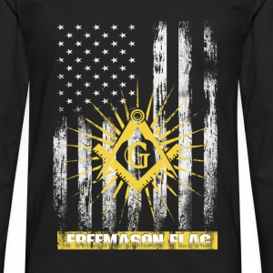 Freemason flag T-shirt - Men's Premium Long Sleeve T-Shirt
