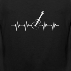 Guitar player - It is in my heartbeat - Men's Premium Tank