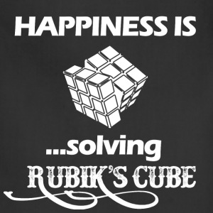 Happiness is solving Rubik's cube - Adjustable Apron