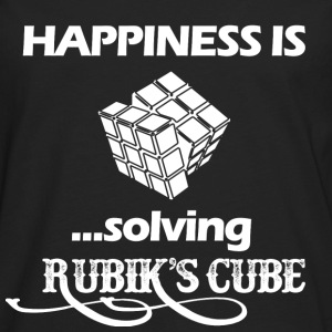 Happiness is solving Rubik's cube - Men's Premium Long Sleeve T-Shirt