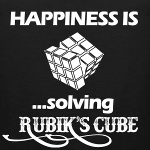 Happiness is solving Rubik's cube - Men's Premium Tank