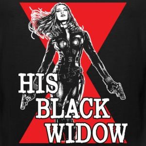 His Black Widow - Captain America fan - Men's Premium Tank