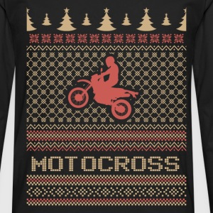 Motocross ugly Christmas sweater - Men's Premium Long Sleeve T-Shirt