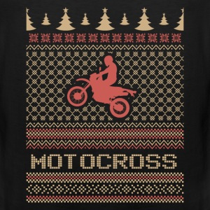 Motocross ugly Christmas sweater - Men's Premium Tank