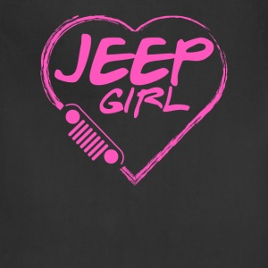 Jeep girl - Pink heart lovely T-shirt - Adjustable Apron
