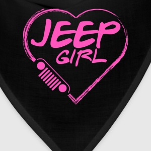 Jeep girl - Pink heart lovely T-shirt - Bandana