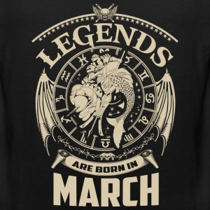 Legends are born in March - Men's Premium Tank