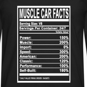 Muscle car facts - Speed, Muscle, American - Men's Premium Long Sleeve T-Shirt