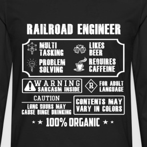 Railroad engineer - Contents may vary in colors - Men's Premium Long Sleeve T-Shirt