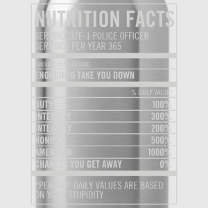 Police officer - American, honor, integrity - Water Bottle