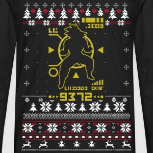 Saiyan Ugly Christmas sweater for fan - Men's Premium Long Sleeve T-Shirt