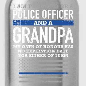 Police officer grandpa - No expiration date - Water Bottle
